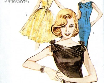 Butterick Retro 1960s women's summer dress reissued pattern uncut and factory folded Out of Print