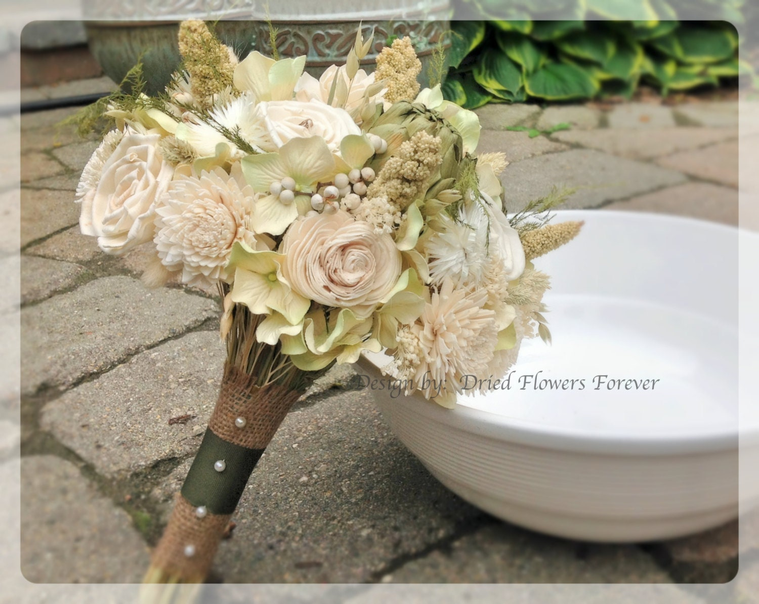 Woodland Moss Collection Bridal Bouquet Natural Dried And Etsy