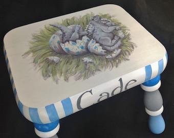 Hatching Baby Dinosaur Children's Footstool