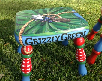 Create Your Own Custom Designed Hand Painted Footstool