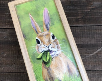 Handpainted Bunny Small Box