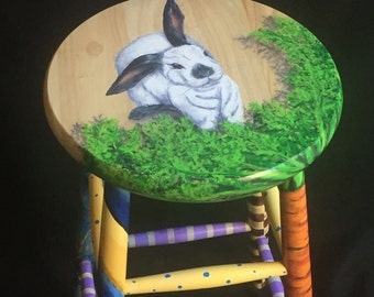 Crazy Leg Bunny Kitchen Stool