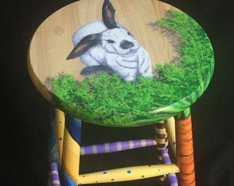 Crazy Leg Bunny Kitchen Stool