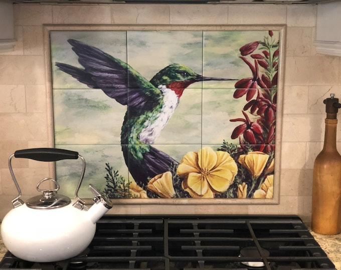 Custom Tile Mural Painted to Order