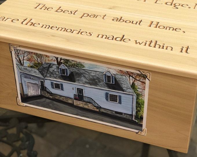 Custom Hand Painted Large Memory Box