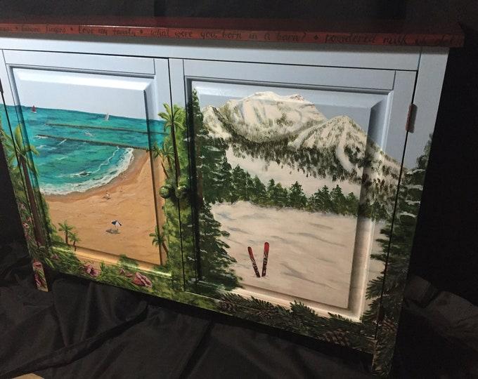 Custom Hand Painted Cabinet