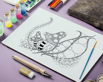 Printable Zendoodle Adult Coloring Page