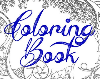 Printable Abstract Adult Coloring Book