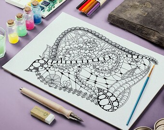 Adult Coloring Page (Printable)