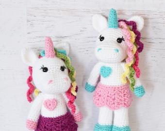 CROCHET PATTERN - Unicorn Doll - amigurumi toy crochet doll stuffed animal unicorn softie handmade PDF unicorn pattern digital pattern