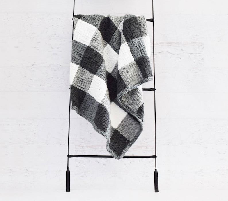 e99a06d3b8e3 CROCHET PATTERN Farmhouse Gingham Blanket baby size