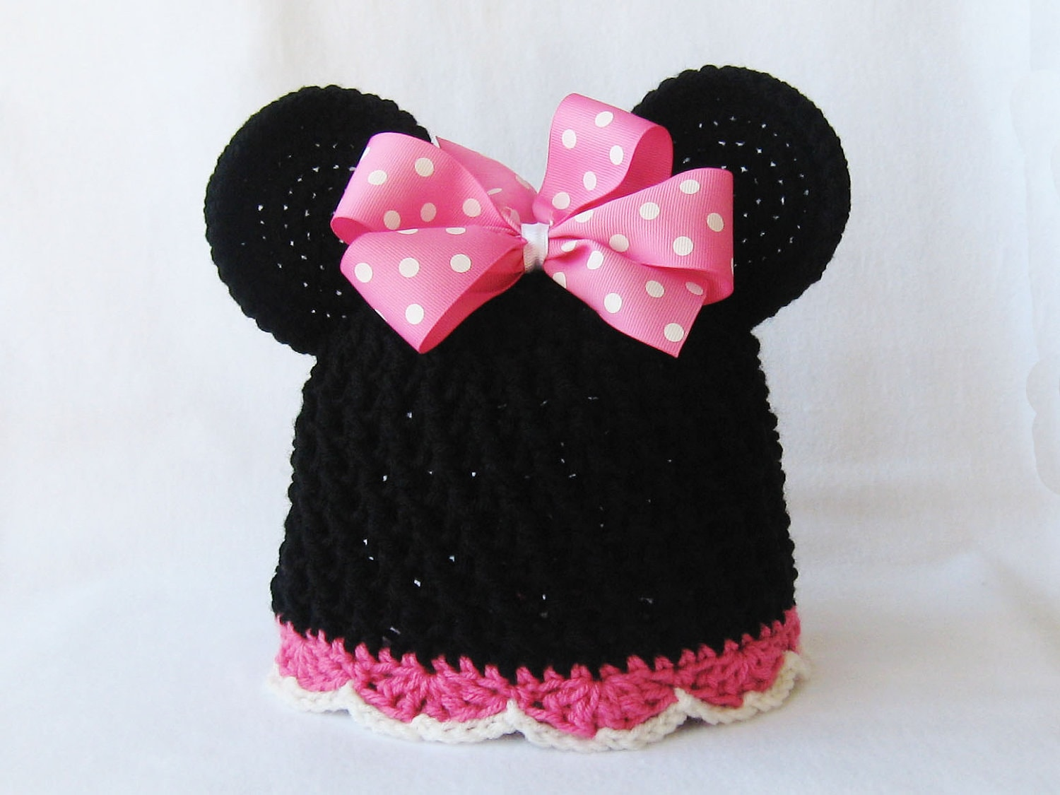 CROCHET PATTERN - Minnie Mouse Hat - crochet hat, crochet beanie ...