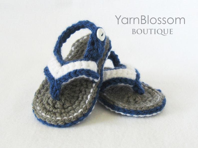 Baby Crochet Pattern Baby Flip Flops Instant Download Pdf Etsy