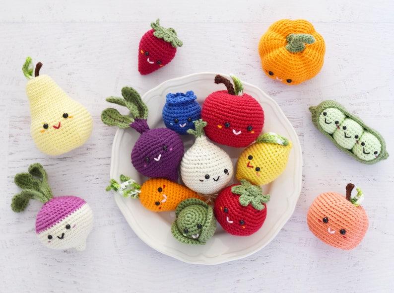 16cb3efc752d8 CROCHET PATTERN Farmer s Market amigurumi toy crochet