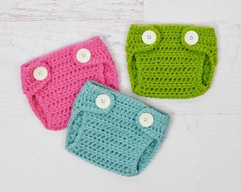 Diaper Crochet PATTERN - Diaper Cover - baby photo prop newborn photography prop crochet soaker 5 sizes included PDF Instant Download