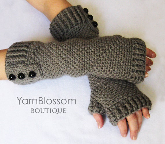 Fingerless Gloves Crochet Pattern Pdf Instant Download Women Etsy