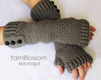 Fingerless gloves CROCHET PATTERN, women's gloves, crochet gloves, PDF pattern, crochet tutorial, winter mittens, arm warmers