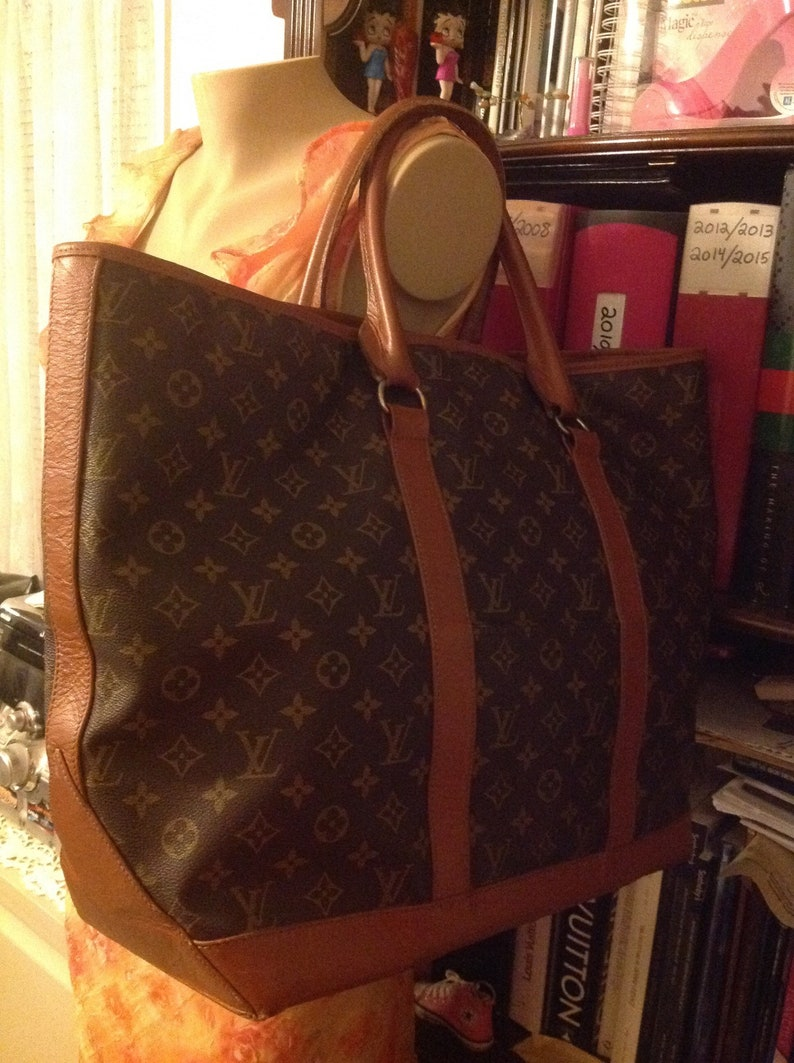 3e7747ac27c Vintage LOUIS VUITTON Sac Weekend GM Bag Authentic