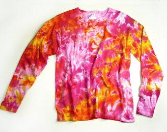 36d0543d1bb54 Ladies Long Sleeve Tie Dye Shirt Womens T Shirt Earthy | Etsy