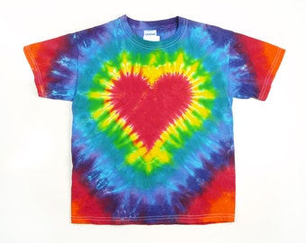 6dbfc423f22 Adult Valentines Day Red and Pink Heart Tie Dye Shirt Short