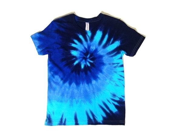 rivenditore all'ingrosso qualità del marchio Vendita scontata 2019 Tie Dye Shirt Youth Blue Spiral Design Eco-friendly Dyeing   Etsy