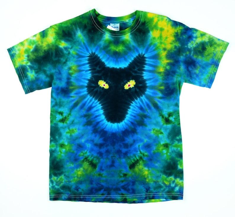 Wolf Shirt Adult Tie Dye Shirt Forest Colors Short or Long  68d673e97