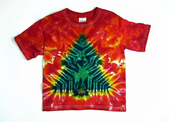 Kids Christmas Tree Tie Dye Shirt / Childs Christmas Shirt | Etsy