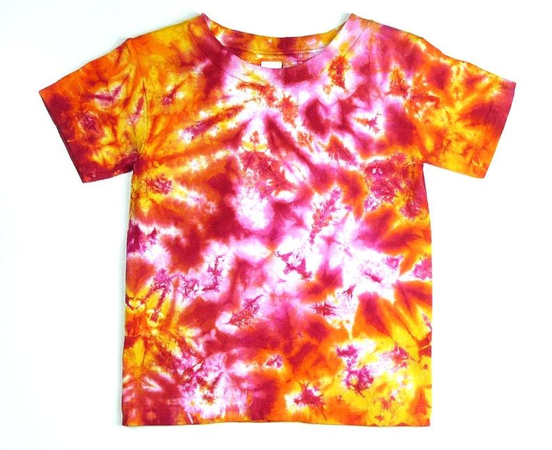 c9c59e6807a83 Toddler Shirt / Pink Sunshine Tie Dye Design / Eco-friendly Dyeing