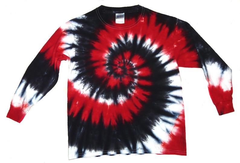 Red Black and White Tie Dye Shirt Valentine s Day  cb99e3ba9