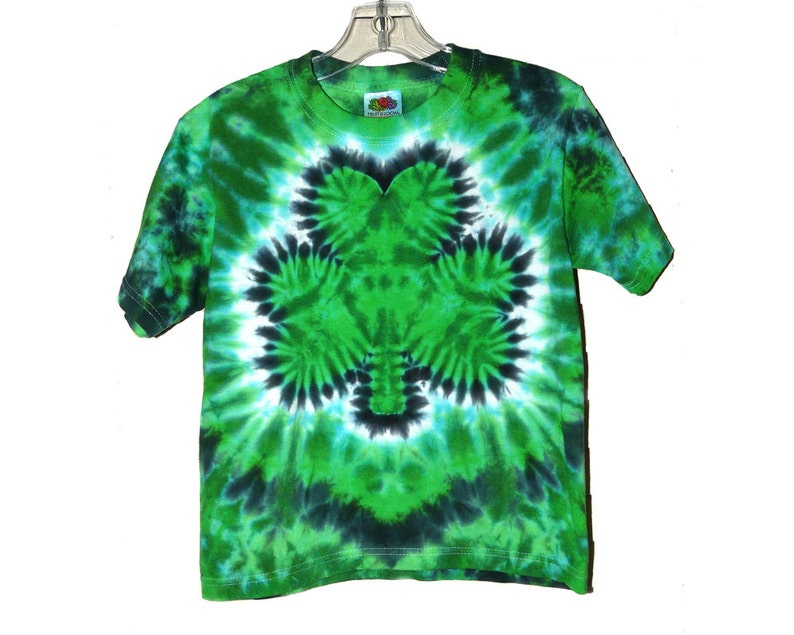 806a3594795a0 Shamrock Tie Dye St. Patrick s Day Shirt Adult and Plus