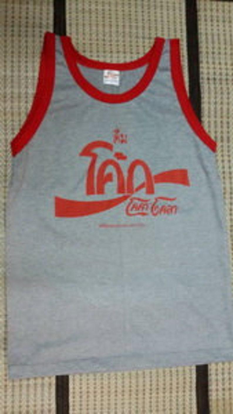 073b181a4c3fe New arrived Coca cola Coke Thailand Tank Top Singlet Sleevele