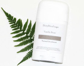 All Natural Deodorant, Aluminum and Sulfate and Paraben Free in Vanilla Bean