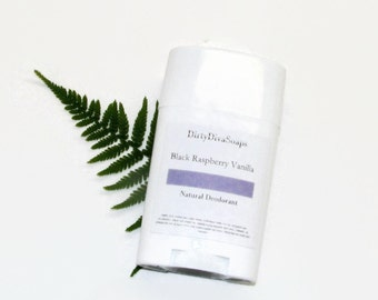 All Natural Deodorant, Aluminum and Sulfate and Paraben Free in Black Raspberry Vanilla