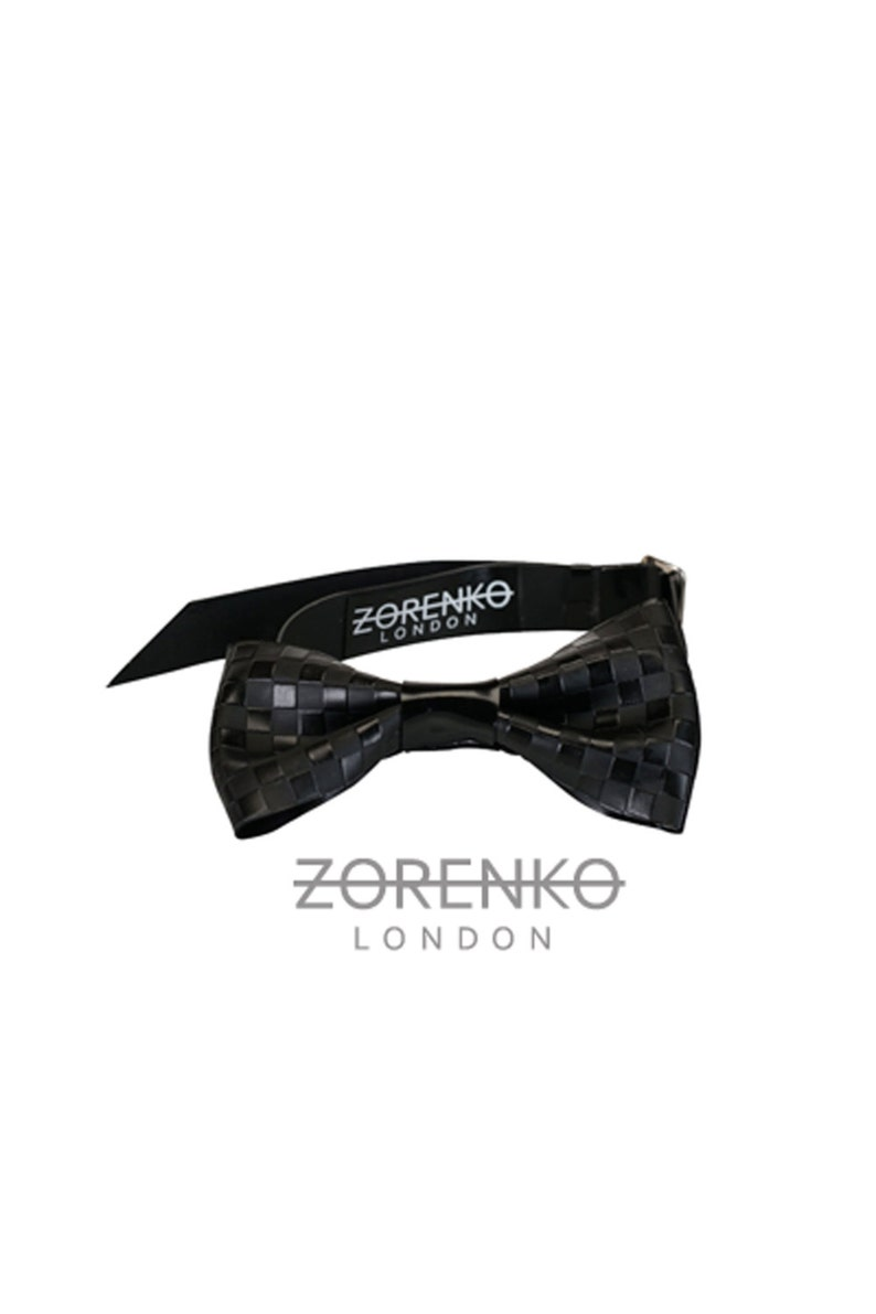 Etched Latex Chequered Men/'s Bow Tie