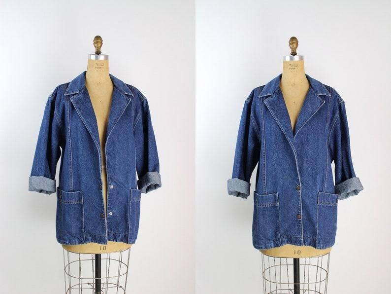 80s Denim Jacket / Oversized Jean Jacket / 90s Jacket / image 0