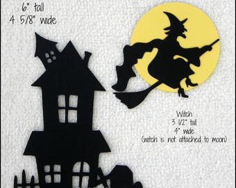 25 Witch On Broomstick Halloween Card Making Scrapbook Craft Embellishments