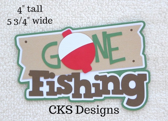 Hooked on Fishing title Premade Scrapbook Pages Die Cut