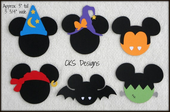 Halloween Circle Ghost die cuts scrapbook cards