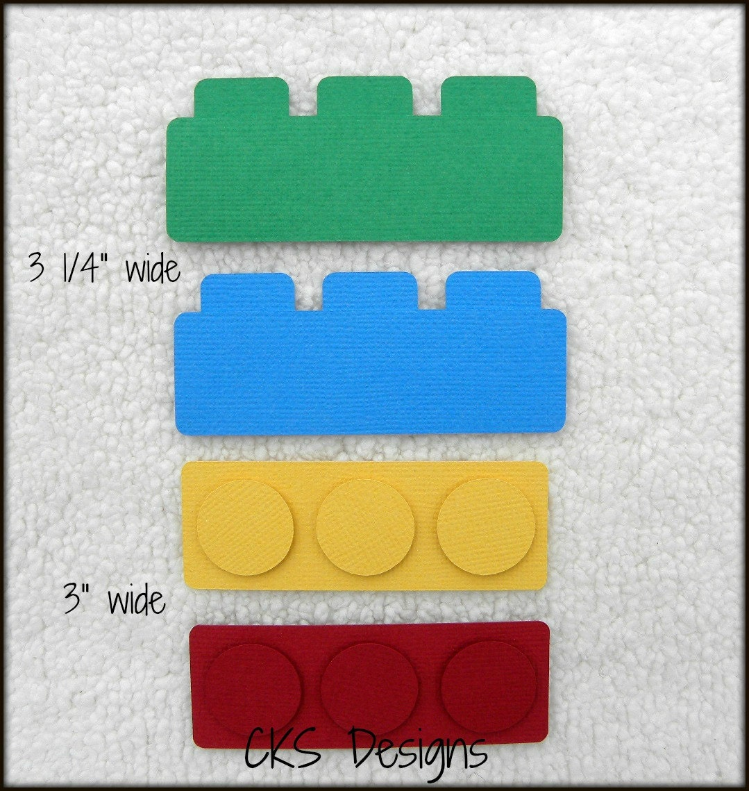 Die Cut Lego Toy Blocks Premade Paper Piecing Embellishment Etsy