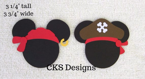 Die Cut Disney Pirate Mickey Mouse Heads Paper Piecing Etsy