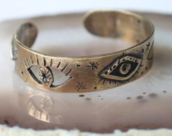 Astral statement cuff bracelet