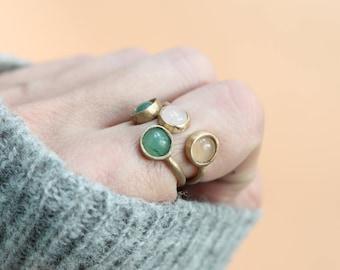 Canis Minor statement gemstone ring