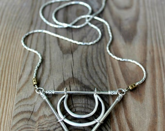 The Killing Moon triangle necklace