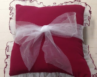 Handmade bridal pillow from your bridesmade or wedding dress