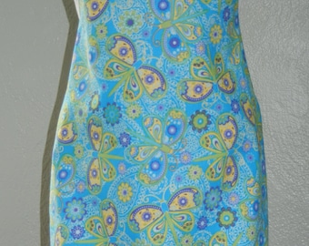Personalized Child's Paisley Dragonfly Apron personalized for free has white trim and ties