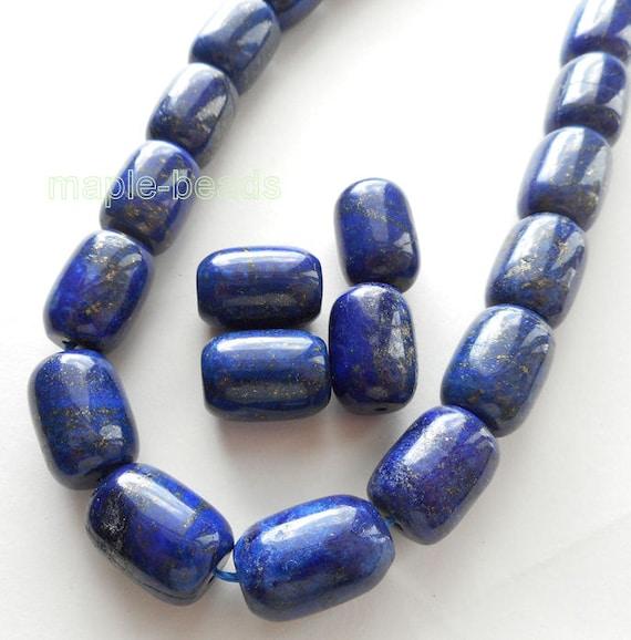4pcs chunky-18mmX12mm Lapis Lazuli gemstone barrel beads