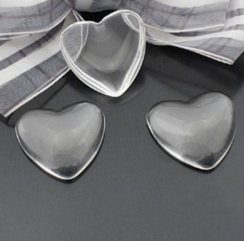 10pcs,16mmX16mm Heart Shape Flat Back Clear Glass Cabochon,heart glass cab