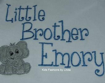 Elephant Little Brother  Bodysuit