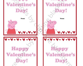 Peppa Pig Printable Valentineu0027s Day Cards   INSTANT DOWNLOAD