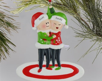 ugly sweater family of 2 personalized ornament christmas ornament family ornament christmas decorations family christmas gfyl135982502